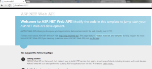 Output for ASP.NET Web API Service