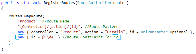Routing Constraint in ASP.NET MVC