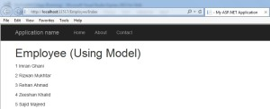 Model in ASP.NET MVC