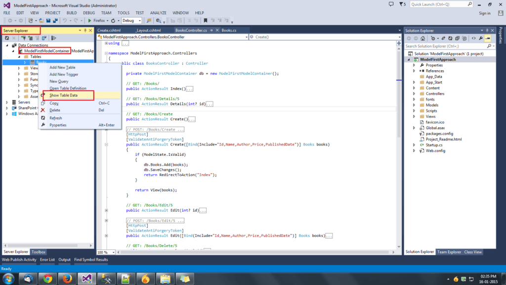 MVC with Entity Framework