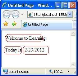ASP.NET Web Page