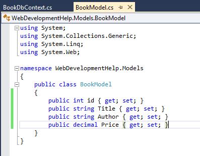 Model in ASP.NET MVC