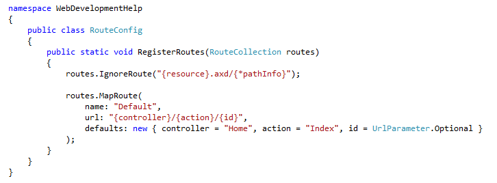 Register Routes in ASP.NET MVC