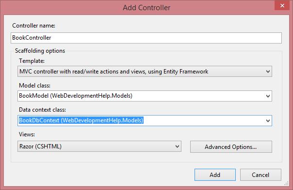 Add ASP.NET MVC Controller