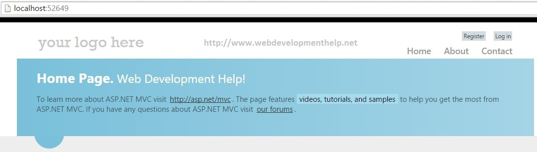 ASP.NET MVC Home Controller
