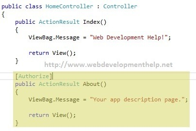 Apply Authorize attribute in ASP.NET MVC