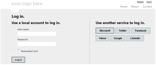 MVC Third Party Auth