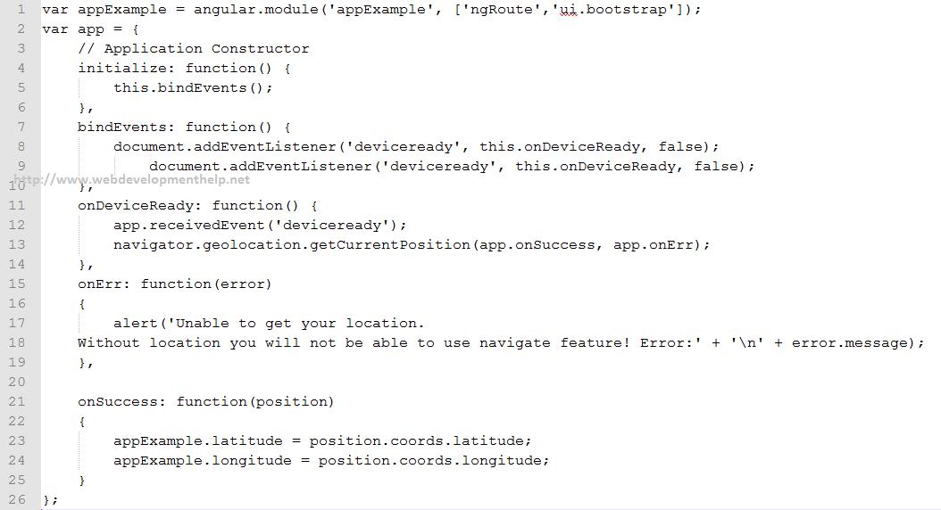 AngularJS Code
