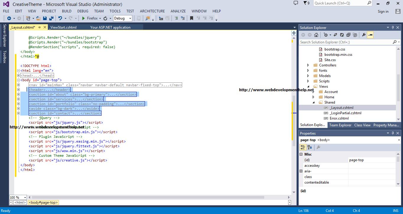 RenderBody in ASP.NET MVC