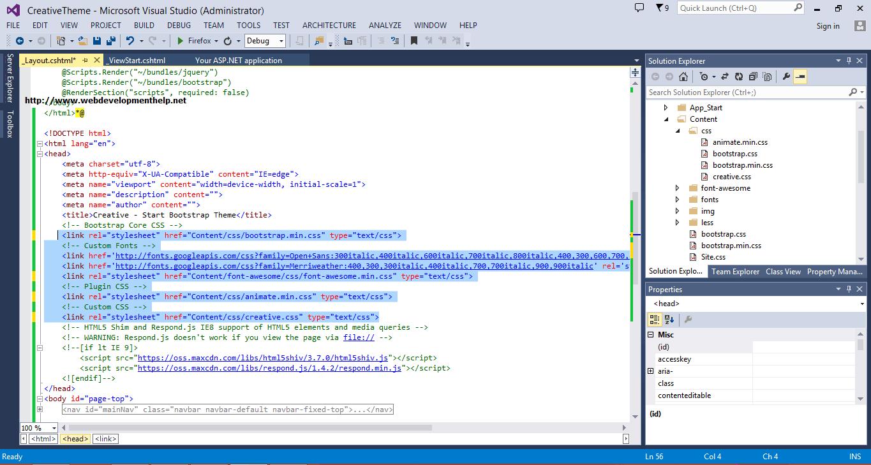 ASP.NET MVC 5 Project