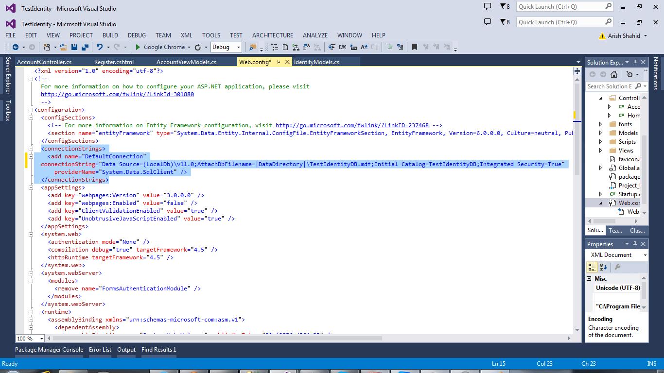 ASP.NET Identity Configuration