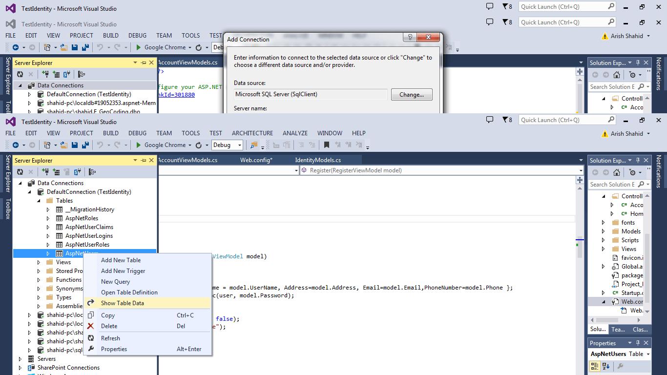 ASPNetUser Data