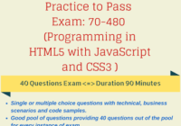 Microsoft Certification Exams: 70-480