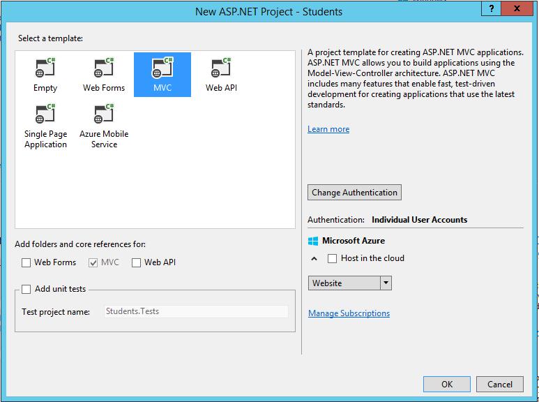 ASP.NET MVC & Web API Application