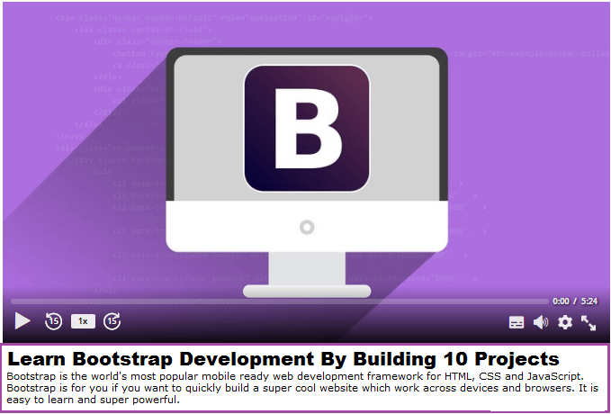 Learn Bootstrap by Example