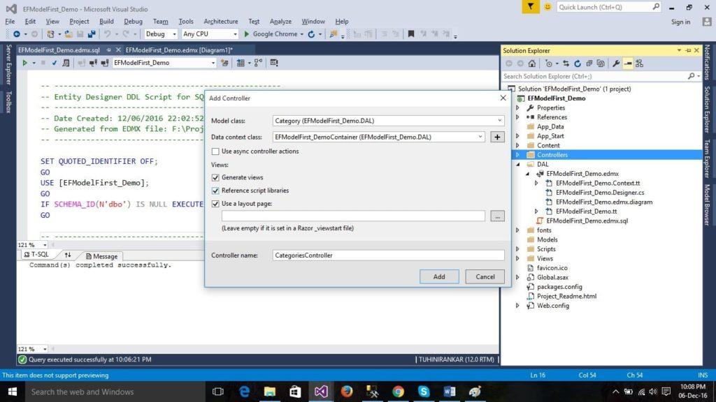 ASP.NET MVC Add Controller