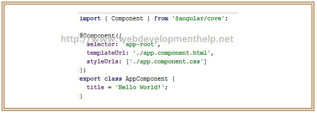 Angularjs 2 Application app-root