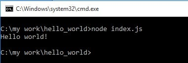 NodeJS Command Line Tool