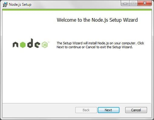 NodeJS Setup Wizard