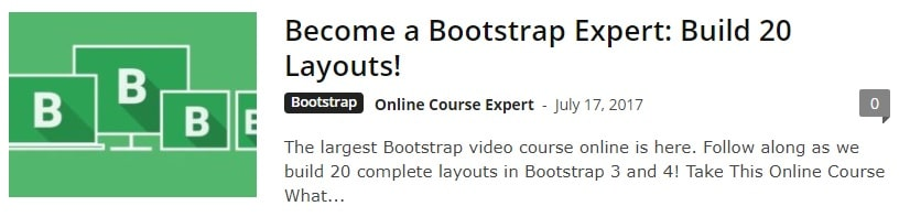 Boostrap Layouts Course