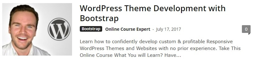 Bootstrap WP Themes Course
