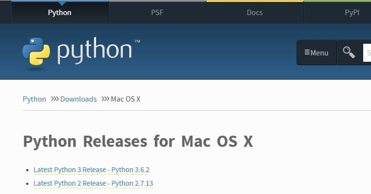 How to open python on mac