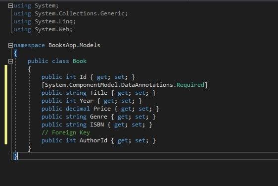Model in ASP.NET Core Web API
