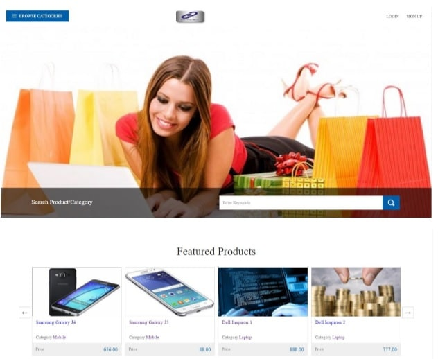 Shopping Cart Homepage