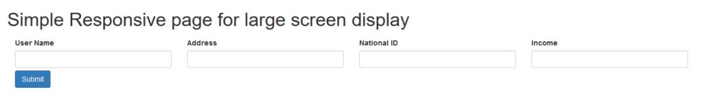 Responsive Design - Large Screen Display