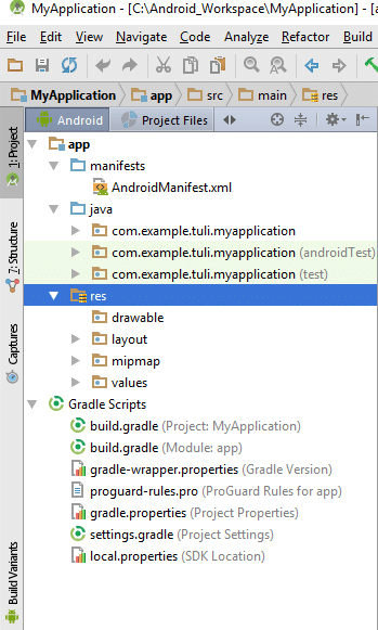 Resource Ids in Android Application