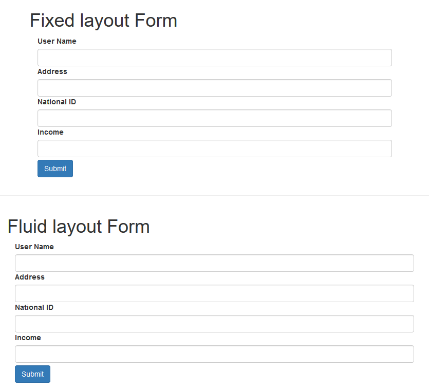 Fixed and Fluid Layout in Bootstrap