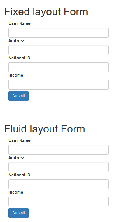 Fixed Layout Vs Fluid Layout in Bootstrap
