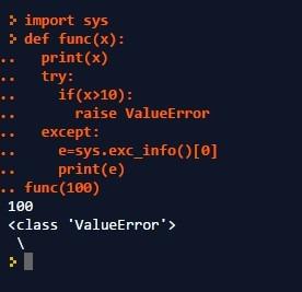 Detect Error Type