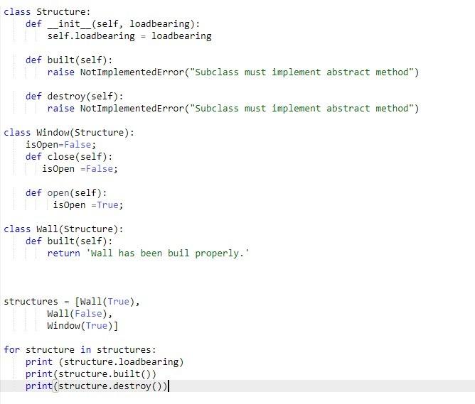 Python Structure Questions