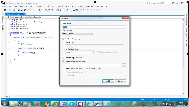 ASP NET MVC Shopping Cart with C#, EF, SQL Server-Part1