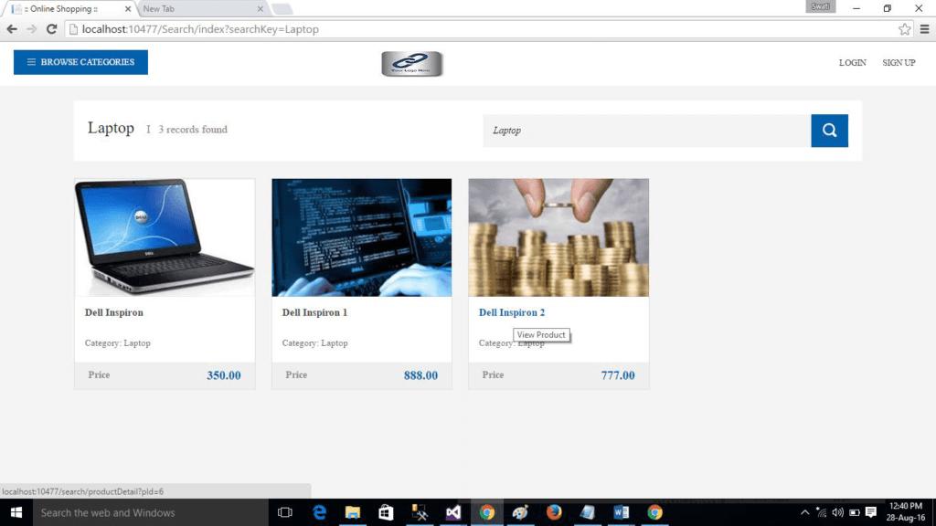 ASP.NET MVC Shopping Cart Item List