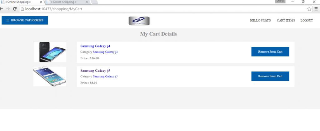 ASP.NET MVC Shopping Cart Details