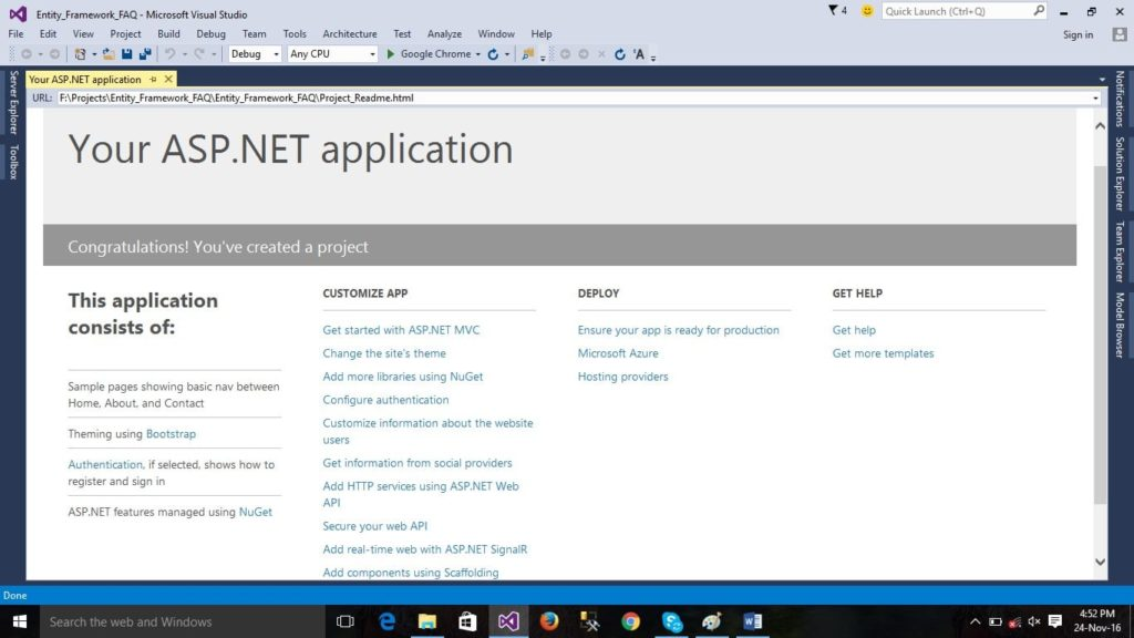 Developing ASP.NET MVC Application