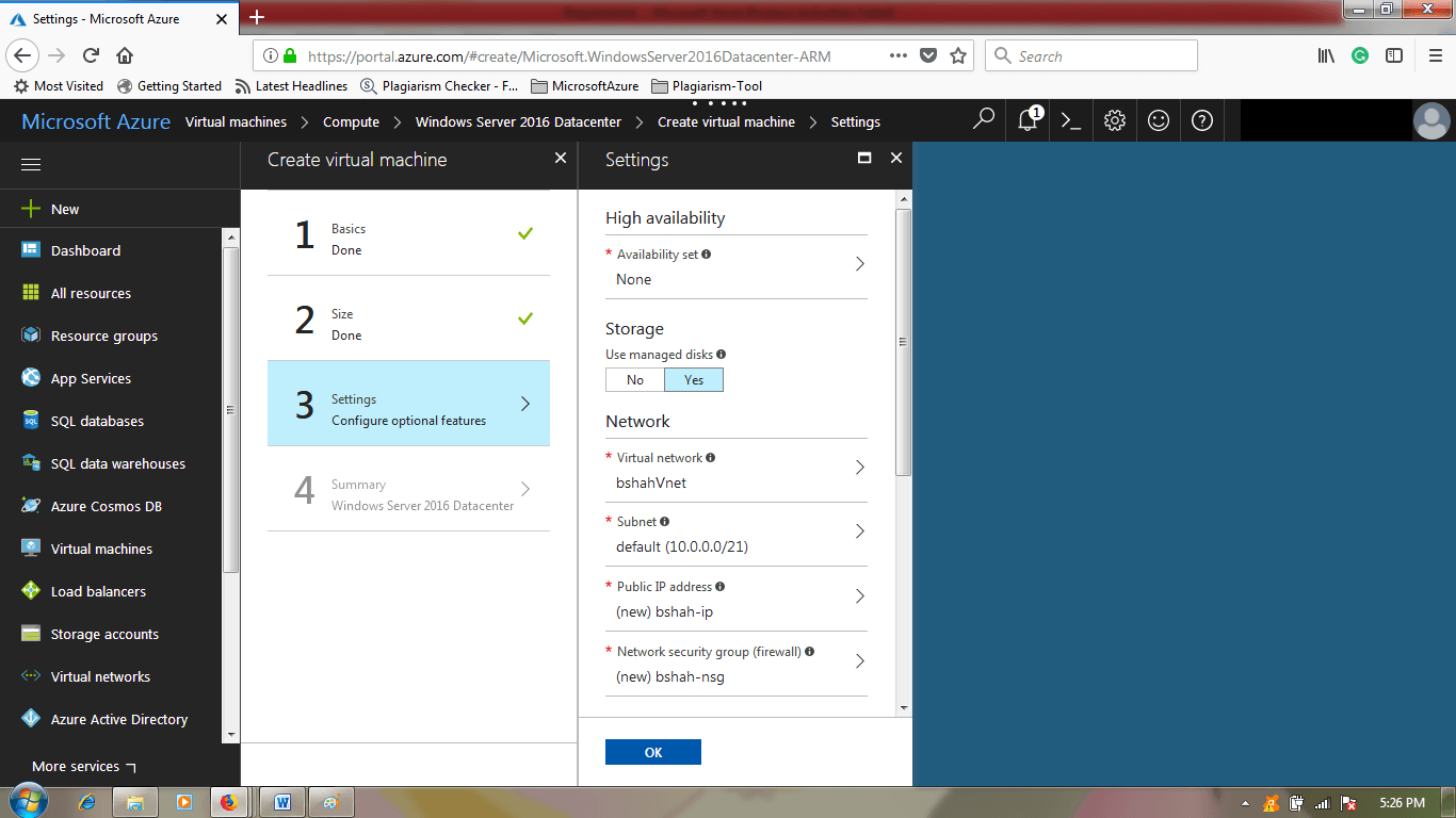 Azure Tutorial on Disk Type