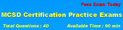 MCSD Certification Exams
