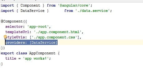 Angular2 App Component Metadata