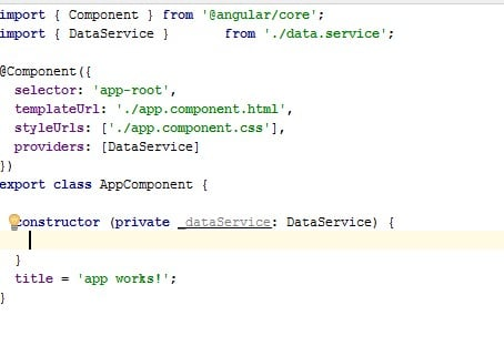 Angular2 App Component