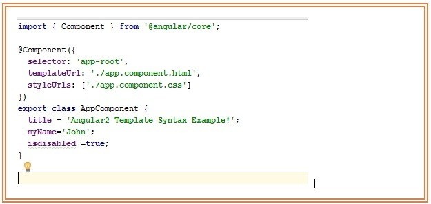 Angular2 Binding Property