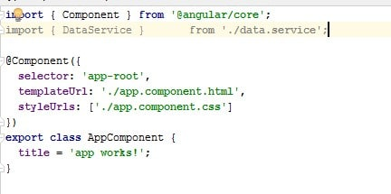 DataService in Angular2