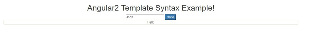 Angular2 Template Syntax Example