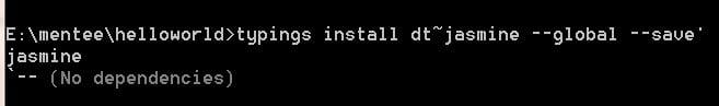 Angular2 typings install