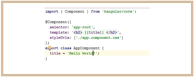 Angularjs 2 Template Tutorial