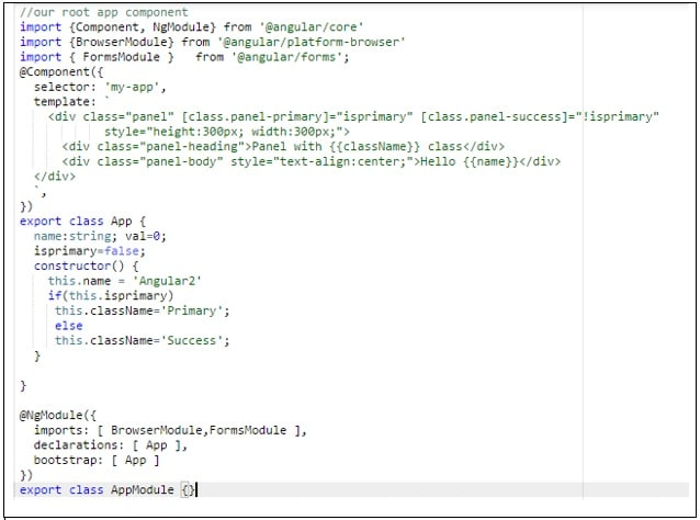 Class Binding in Angular2
