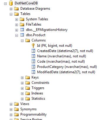 ASP.NET Core Application DB
