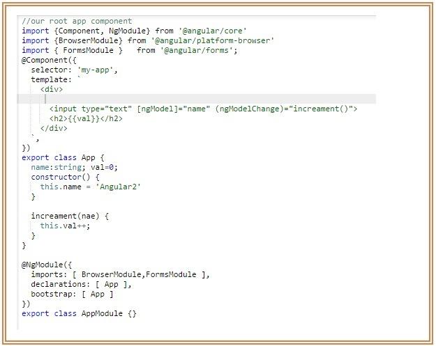 Angularjs 2 Event Handling